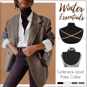 🌟 Winter Essentials🌟 High Grade Turtleneck Wool Fake Collar