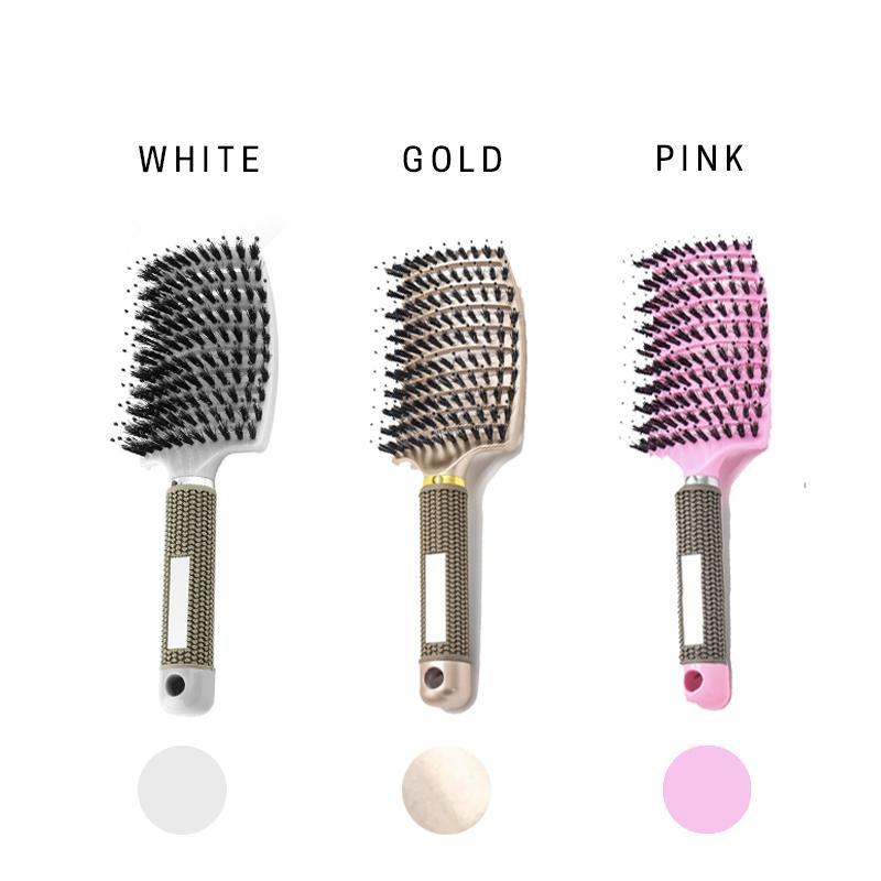 Detangling Nylon Bristle Hairbrush