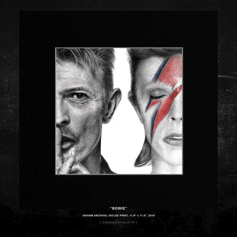 'BOWIE' - { LIMITED EDITION OF 10 } - ARCHIVAL GICLÉE PRINT