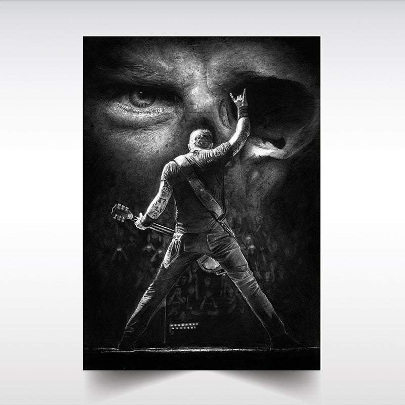 METALLICA 'JAYMZ' JAMES HETFIELD - SATIN PRINT