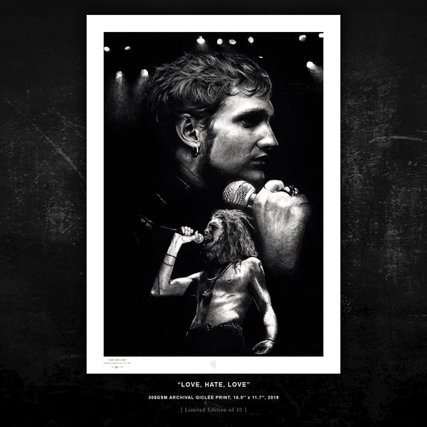 LAYNE STALEY 'LOVE, HATE, LOVE' ALICE IN CHAINS - { LIMITED EDITION PRINT 10 } - ARCHIVAL GICLÉE PRINT