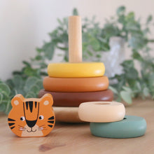 Load image into Gallery viewer, Roar! Wooden Stacker