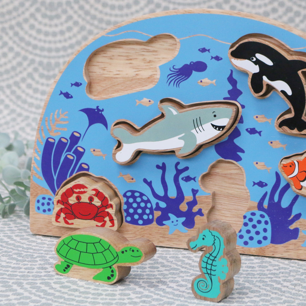 Sealife Wooden Shape Puzzle