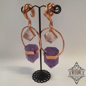 Amethyst & Rose Quartz Ear Weights