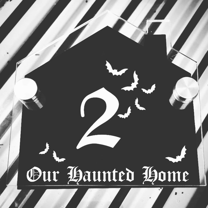 Haunted Home House Plaque