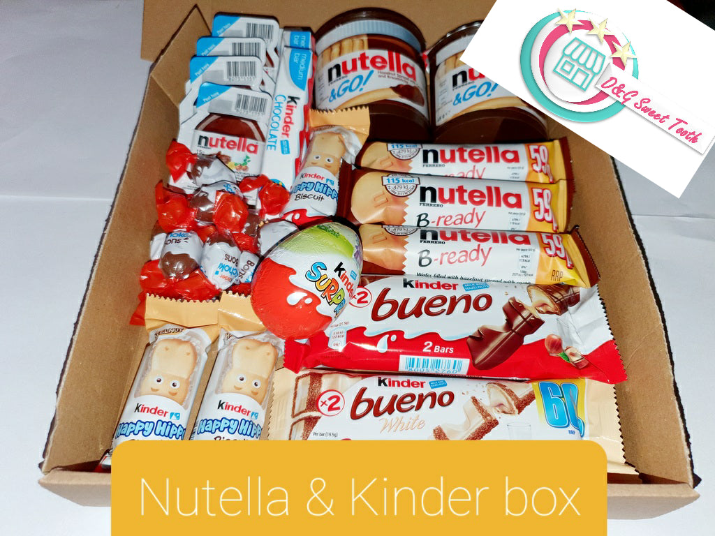 Nutella and kinder box