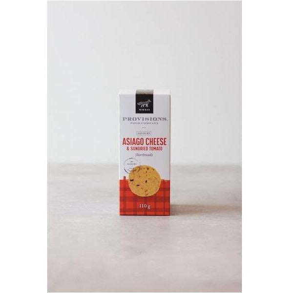 Asiago Cheese & Sun-Dried Tomato Shortbreads - bushel & peck