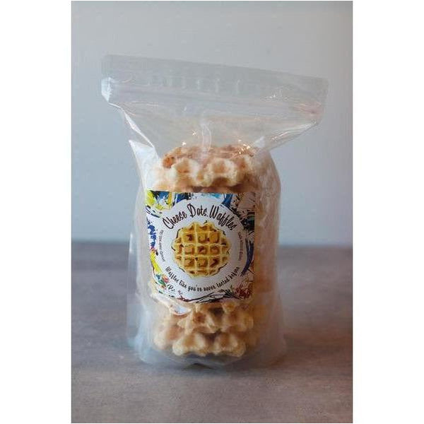 Cheese Dot Waffles - bushel & peck