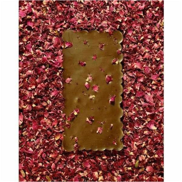 Raspberry Rose 58% Dark Milk Chocolate – 100g - bushel & peck