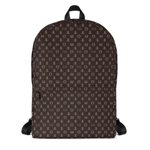 Ron Marcel Monogram Backpack [Brown]