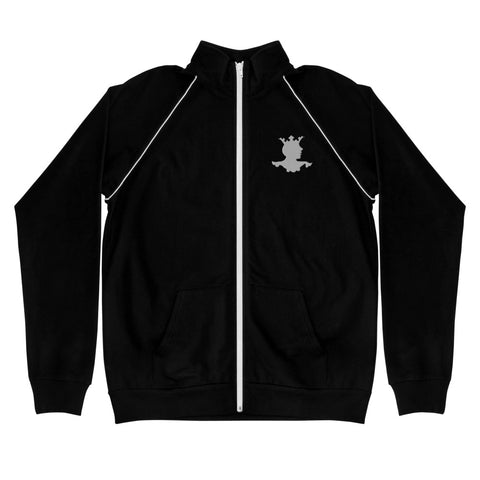 Men's Piped Embroidered Fleece Jacket
