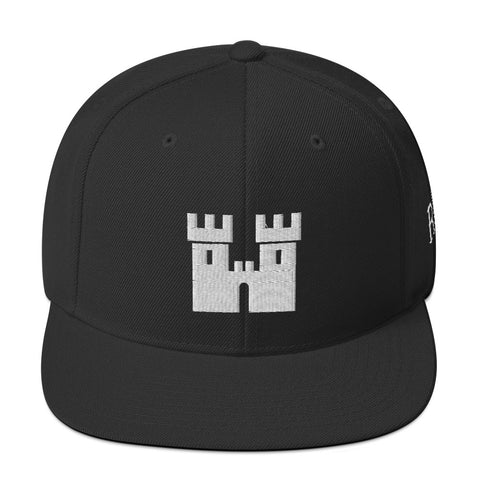 Castle Snapback Hat [White Stitch]