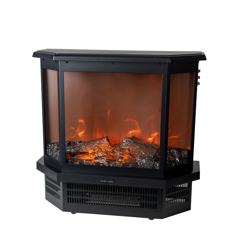 EdenBranch 3 Sided Freestanding Electric Fireplace Stove