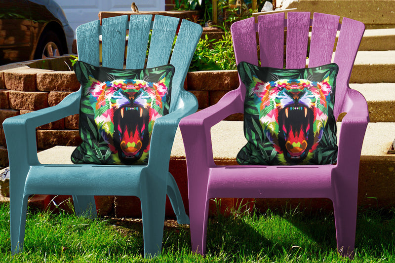 Patio Premier 2pk Tiger Spunpoly Throw Pillow with Flame Retardant Filling - EdenBranch-Your Garden Paradise