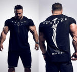 2019 Summer New mens gyms T shirt Fitness Bodybuilding Fashion Male Short cotton clothing Brand Tee Tops