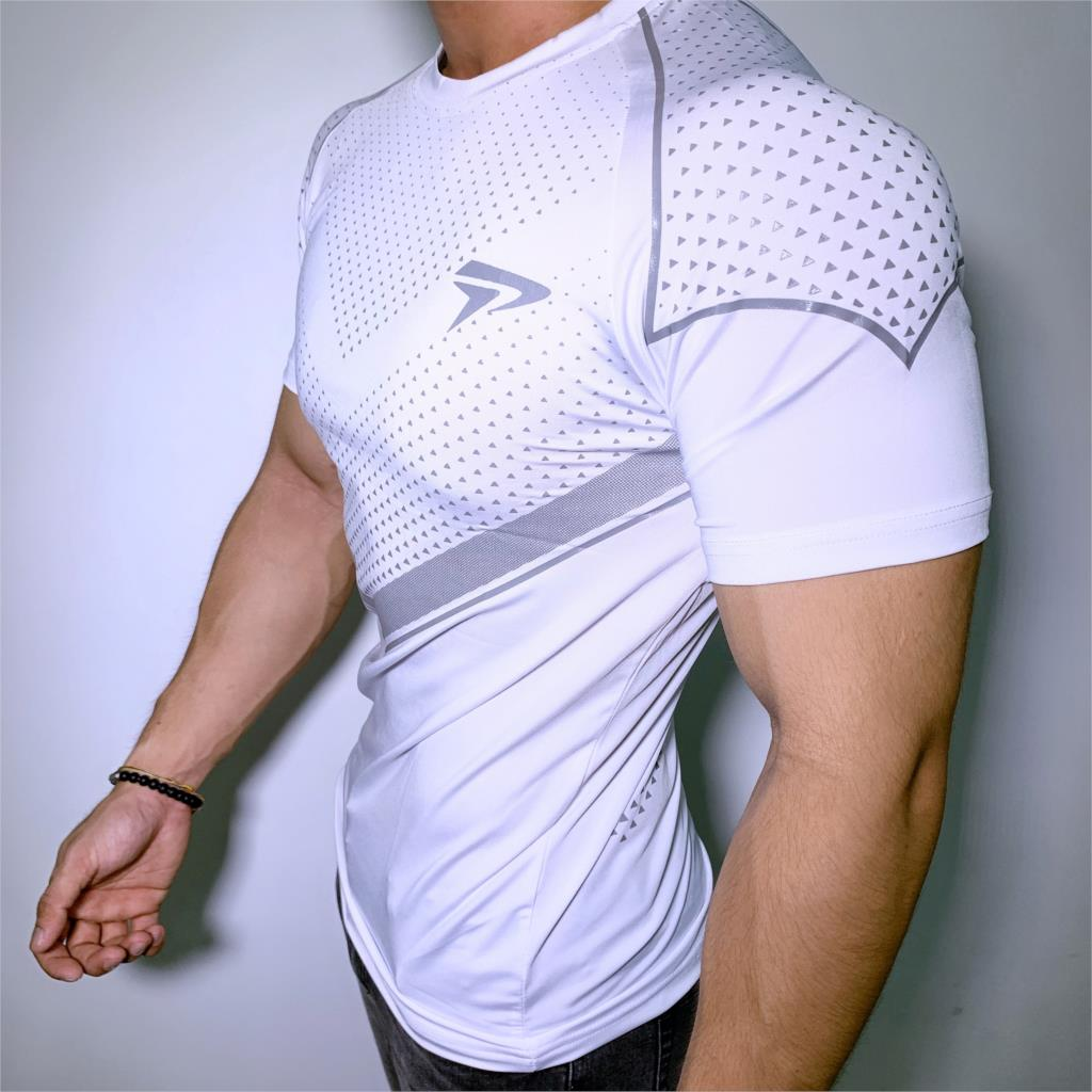 New Mens Compression Skinny T-shirt Gyms Fitness Bodybuilding t shirt Male Summer Casual Jogger Workout Tee Tops Brand Clothing
