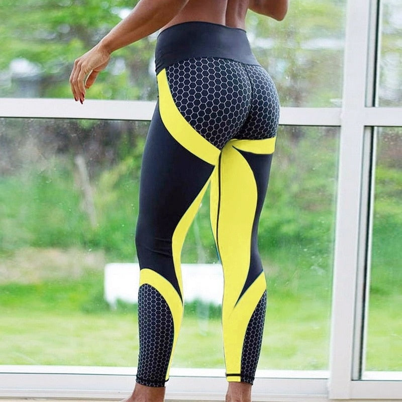 Print Women Yoga Pants Tight Leggings Fitness Clothing Seamless Sport Pants Breathable Running Hip raise Professional Sportswear