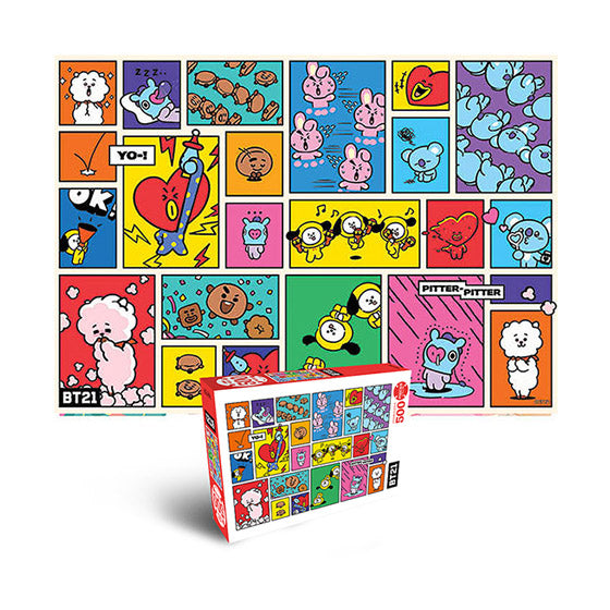 BT21 Jigsaw Puzzle 500pcs Focus on Me