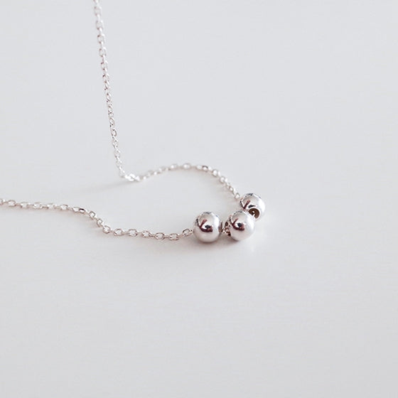 [Silver925] Triple ball necklace