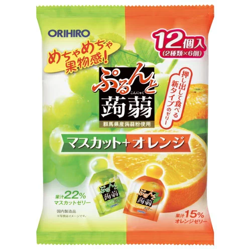 Orihiro Jelly[12 pcs][Muscat + Orange]