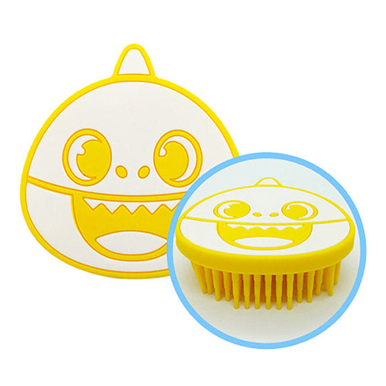 Silicon Shower Brush Yellow