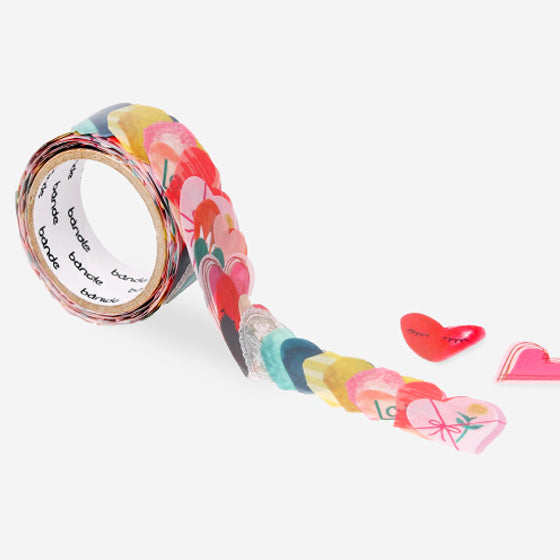 Bande Heart to heart masking tape