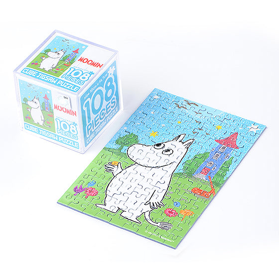 Moomin cube puzzle 108pcs-Moomin and birthday button