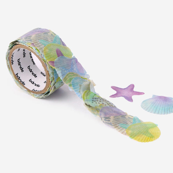 Bande mysterious sea-color shellfish masking tape