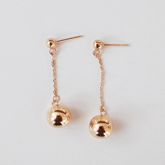 [Silver925] Falling ball earring