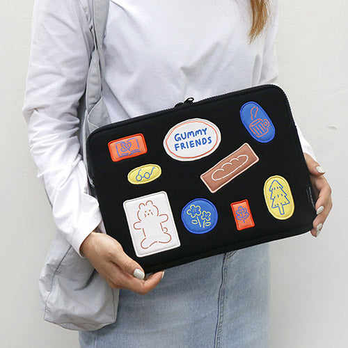 "Brunch Brother iPad Pouch for 11"" (Gummy Friends)"
