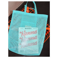 Mesh basket bag - beach