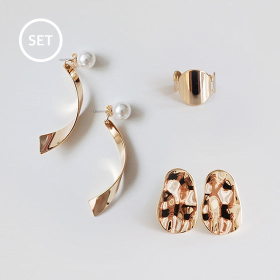 Earring & ring set 005