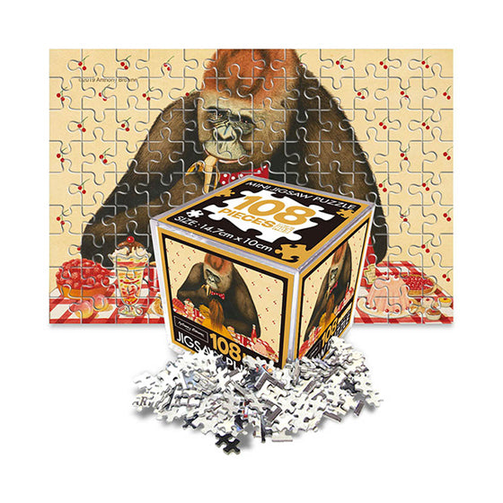 Anthony Browne Jigsaw Puzzle Mini 108pcs Dining with gorilla