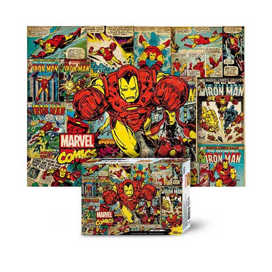 Marvel Comics Jigsaw Puzzle 500pcs Iron Man(M-A05-012)