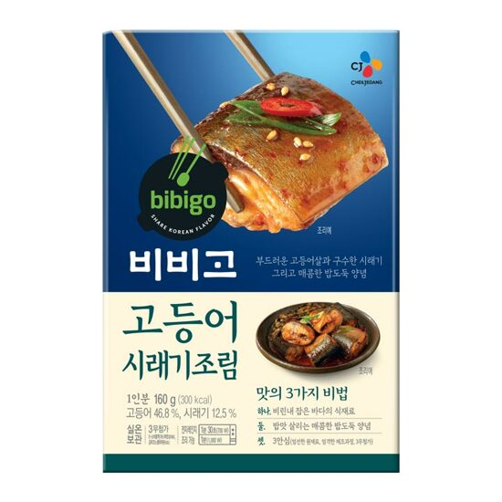 [bibigo] Korean Mackerel Dried Radish Greens Boiled Down In Soy Sauce 160g