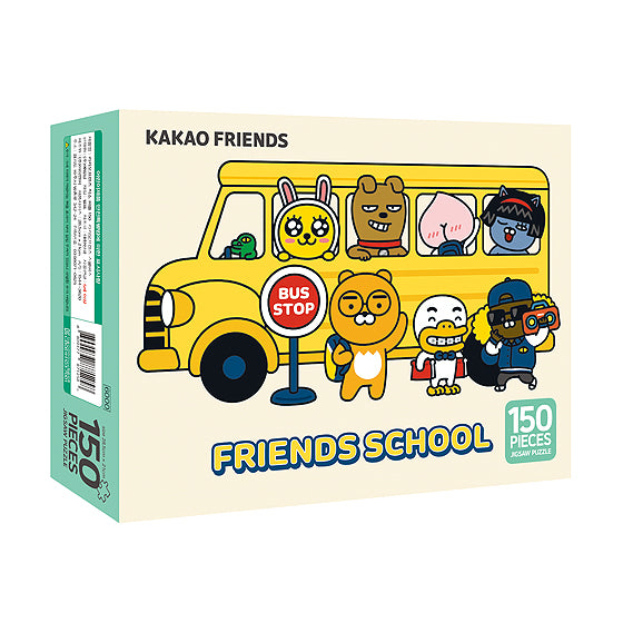 Kakao friends Jigsaw puzzle 150pcs-Kakao friends school bus