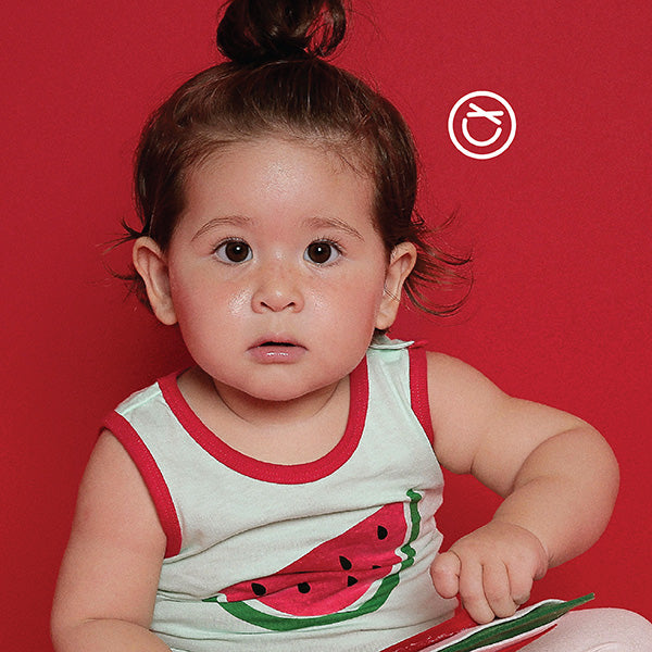 Fever Indicating Organic Sleeveless Top (Watermelon)