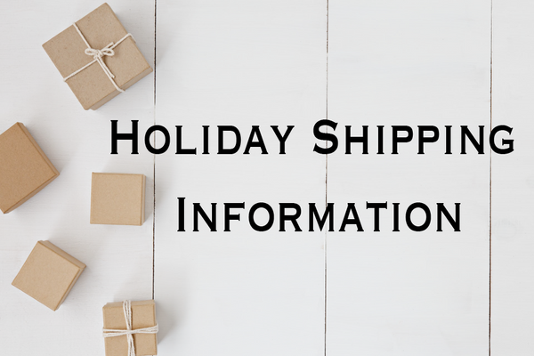 Holiday Shipping Information Banner