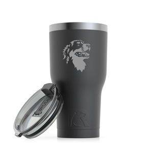 Custom Engraved Bernese Mountain Dog Tumbler.