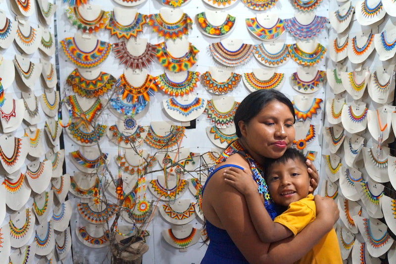 Embera indigenous handicrafts by Susana and her son.