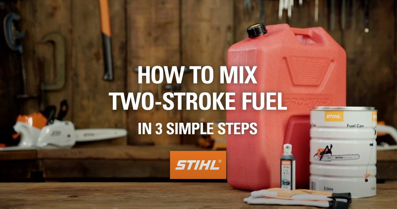 How to mix 2-stroke fuel