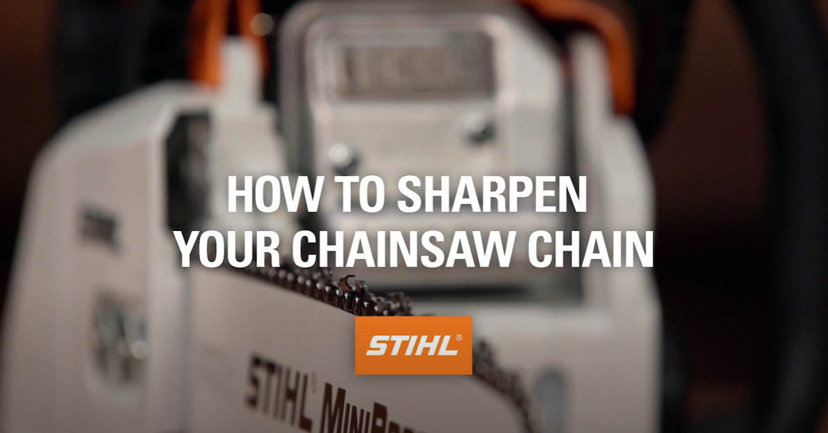 How to Sharpen Your Chainsaw Chain