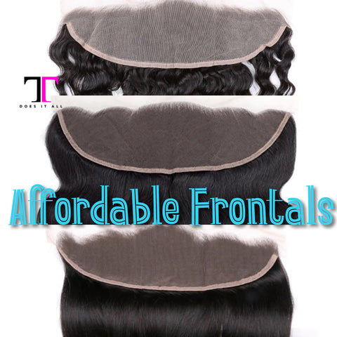 Affordable Lace Frontals (1b-Natural Black)
