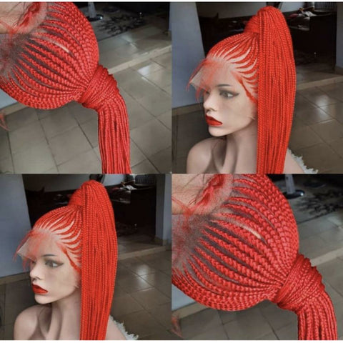 Braided Up Full Lace Wig (Red)