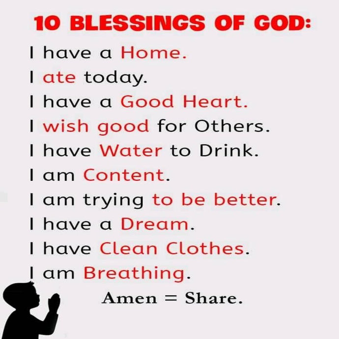 10 Blessings Of GOD