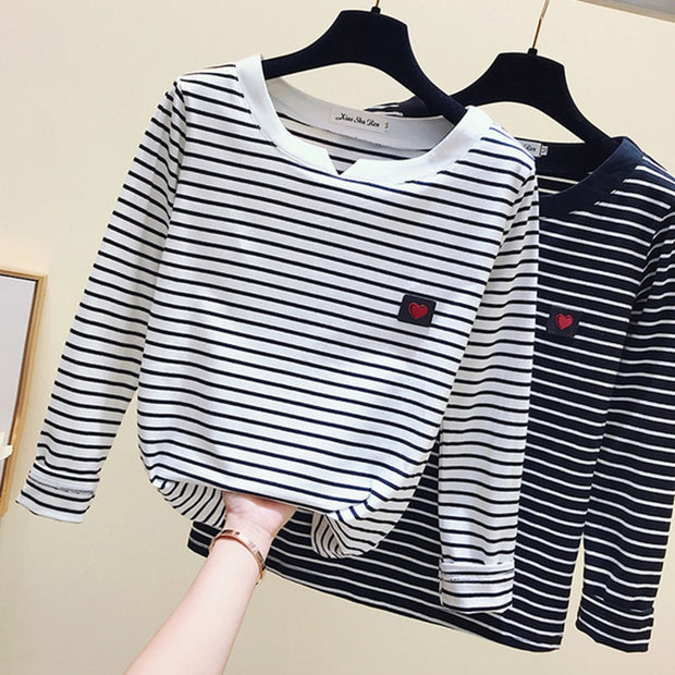 Striped Long Sleeve T-Shirt R&R