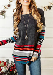 Striped Women T Shirt