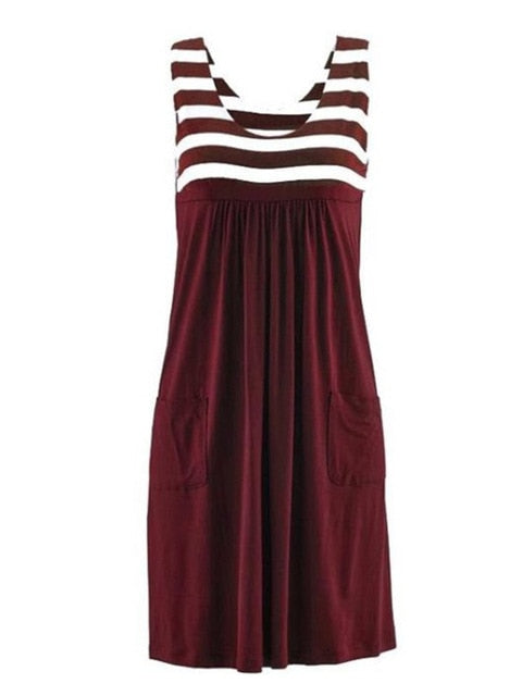 Striped seasonal dress