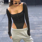 Women Off Shoulder Sexy Bodysuit