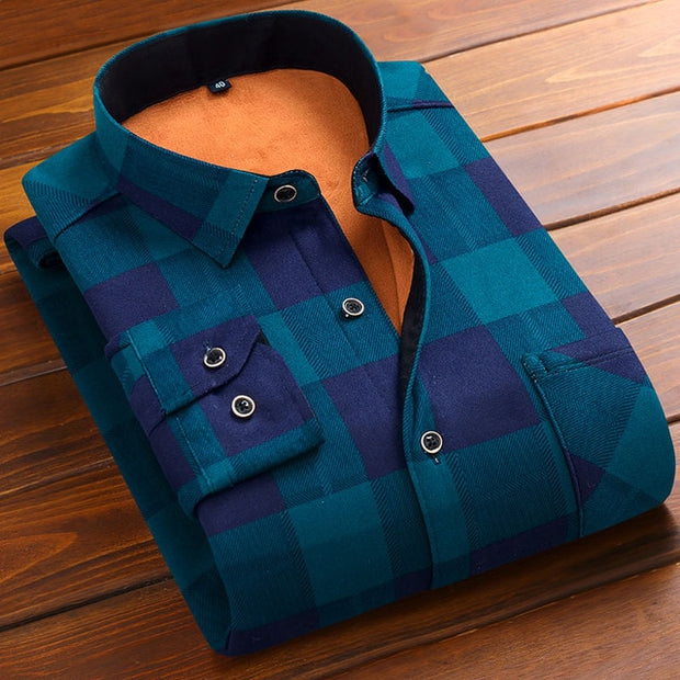 Thickening Warm Slim Shirts